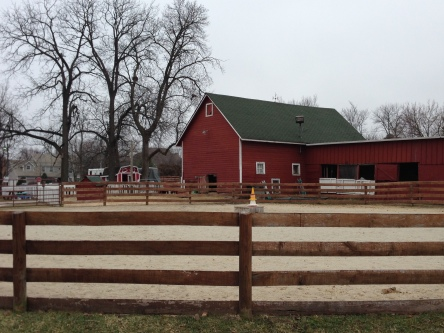 The Farm Club was only of that red barn and a small arena in front. It is now used as storage.
